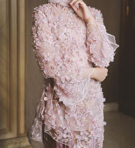 hijab engagement inspiration  applique kebaya modest
