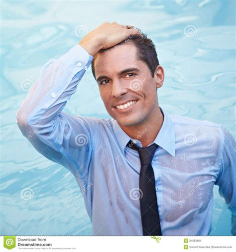 business man  wet clothing  water stock images