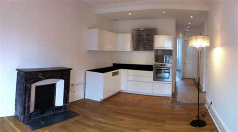 exemple peinture cuisine travaux pour installer une cuisine dans un studio renov