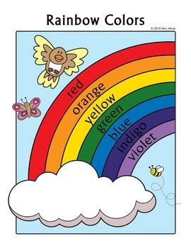 colors practice rainbow coloring page english color