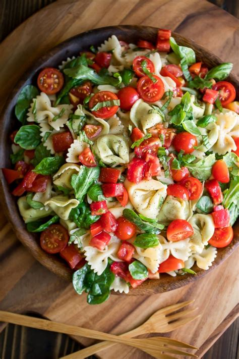Pasta salads are perfect for lunchboxes, picnics and barbecues. Bruschetta Pasta Salad Recipe - Peas and Crayons