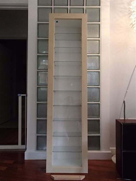 glass fronted wall cabinet ikea bertby wall mounted glass fronted display cabinet