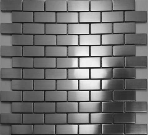 brick silver metal mosaic tiles smmt017 stainless steel