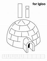 Igloo Coloring Printable Pages Alphabet Letter Letters Preschool Colouring Practice Learning Handwriting Activities Sheets Ice Kindergarten Template Teaching Cartoon Drawing sketch template