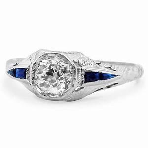 art nouveau diamond vintage ring dominique brilliant earth With dominique wedding rings