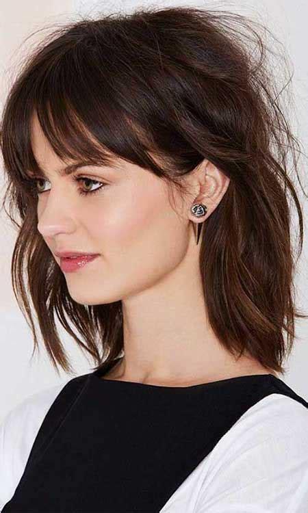 Medium Length Layered Haircuts With Bangs Hairstyles