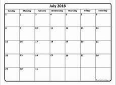 July 2018 Calendar Cute printable calendar templates