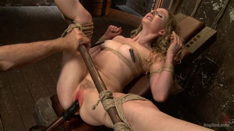 Two Gorgeous Blonde Rope Sluts Made To Orgasm In Rough Bondage Hog Tied XXX Tube Channel