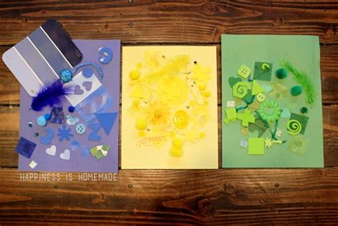 crafting 101 color collage activity happiness 629 | Preschool Craft Activity Color Collage Art Work