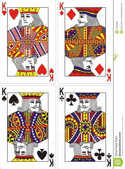 playing cards king  mm royalty  stock image