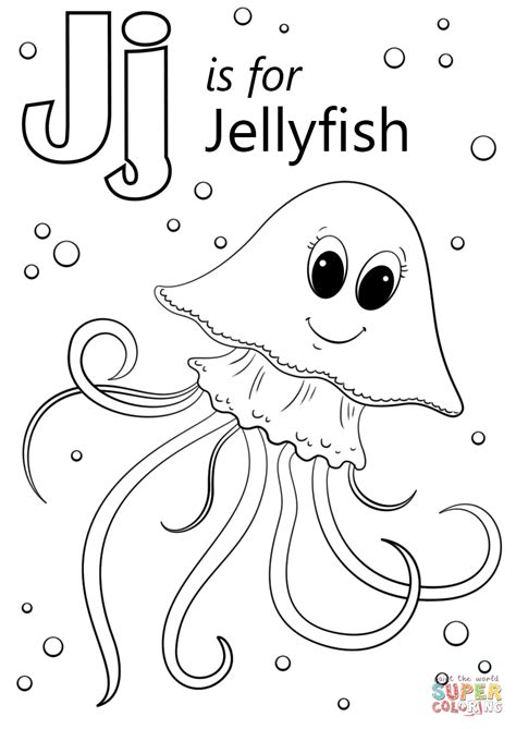 Letter J is for Jellyfish Super Coloring (With images