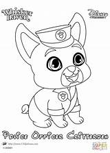 Coloring Whisker Haven Pages Police Officer Palace Printable Pets Princess Disney Pet Drawing Colorings Dot Crafts Non sketch template
