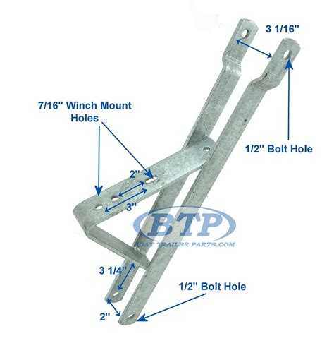 Boat Trailer Parts Winch Stand by Winch Mount Bracket For 2 Inch Winch Post With 3 Inch