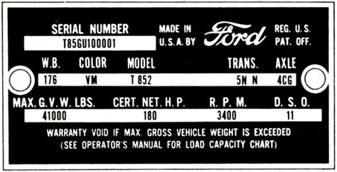 can you tell paint color from vin number decode your 61 62 ford truck vin tag fordification info the 61 66 ford resource