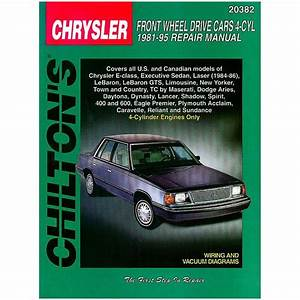 Chrysler -dodge - Plymouth 4 Cylinders 1981-1995 Rthc20382