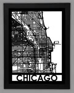 Framed CityMaps Chicago