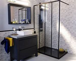 idee decoration salle de bain meuble castorama pour une With idees salle de bain moderne