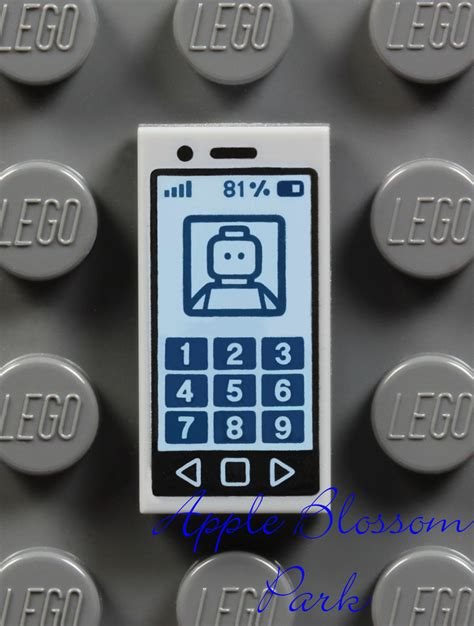 tile for phone new lego minifig gray smart cell phone 1x2 printed tile