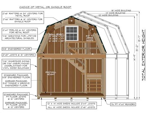 Construction Specifications On A 2-story Gambrel Barn From