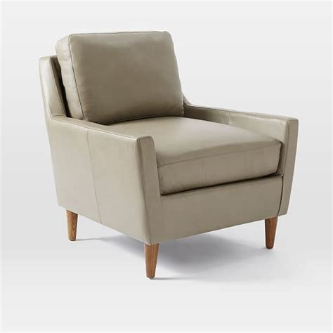 West Elm Everett Chair Leather by Everett Leather Chair Bachelorette Pad