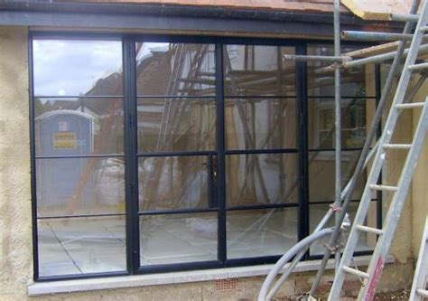 steel replacement french doors  surrey west london p p glass