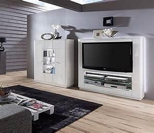 Wohnwand Hochglanz Weiß Günstig : wohnwand quadra 3 hochglanz lackiert wei vormontiert mediawand wohnwand ~ Bigdaddyawards.com Haus und Dekorationen