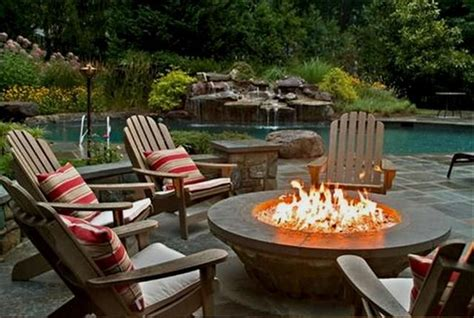 patio furniture sets with gas pit outdoors firepits