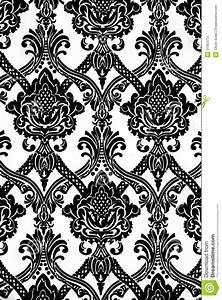 Papier Peint Rayé Noir Et Blanc : mod le de papier peint de vintage en noir et blanc image stock image 31453751 ~ Preciouscoupons.com Idées de Décoration