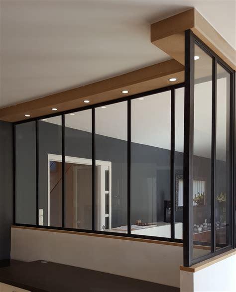 ensemble de chambre séparation intérieure style verrière atelier à nantes