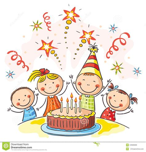 kids birthday party stock vector illustration  birthday