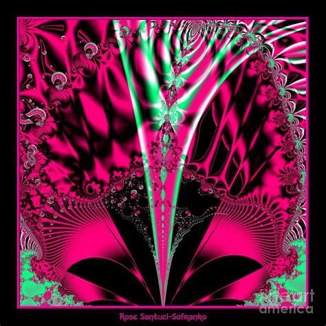 Fuchsia Alien Mardi Gras Mask Fractal 78 Digital Art By