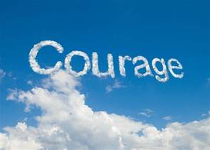 Image with the Word Courage