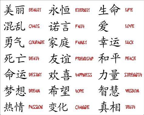 Kanji Symbols Tattoo Designs