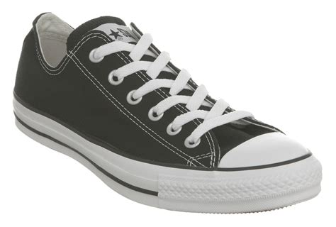 mens converse all low black canvas trainers shoes ebay
