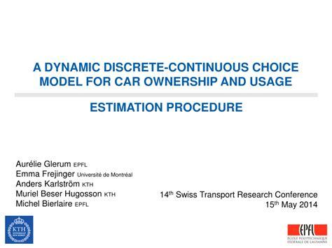 dynamic discrete continuous choice model  car