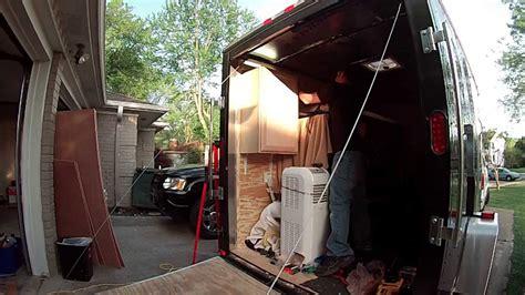 enclosed trailer r door conversion cabinet install 6x10 enclosed trailer conversion