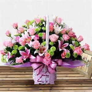 Image result for canastas con flores de papel
