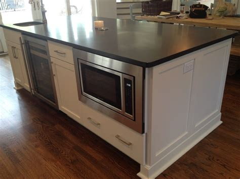 kitchen island microwave built in built in microwave style kitchen atlanta by 8199