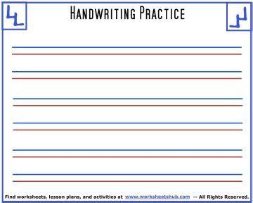 handwriting sheetsprintable  lined paper