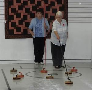 house call seniors step off ice for floor curling With floor curling rocks