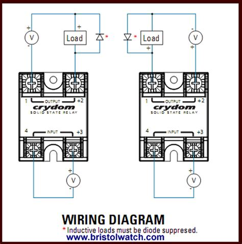 connecting crydom mosfet solid state relays