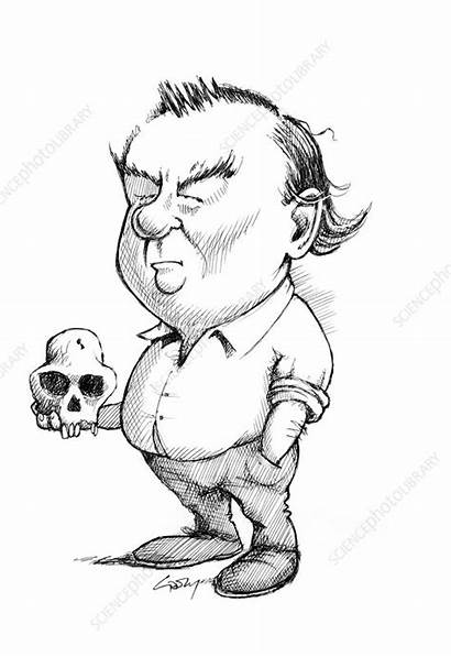 Leakey Richard Gary Brown Paleoanthropologist Photograph Caricaturas