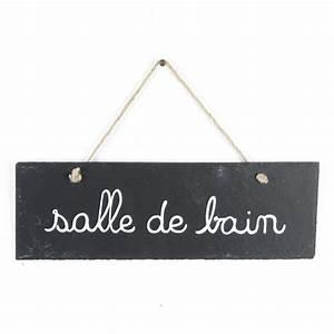 Porte De Salle De Bain : plaque de porte ardoise salle de bain gris ~ Dailycaller-alerts.com Idées de Décoration