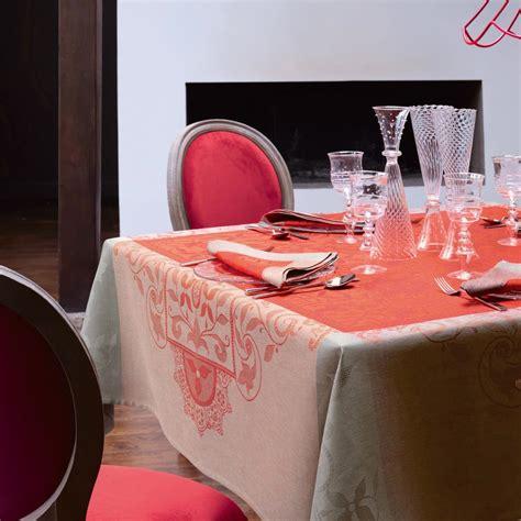 le jacquard francais nappe nappe venezia cornaline 100 nappes la table le jacquard fran 231 ais