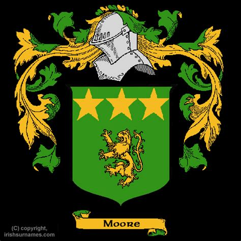 Moore Coat Of Arms, Family Crest And Moore Family History