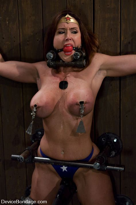 Cute Babe In Superhero Outfit Gets Gagged A Xxx Dessert Picture
