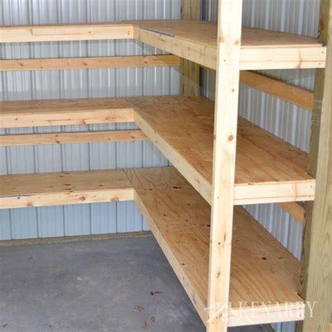diy corner shelves  garage  pole barn storage man