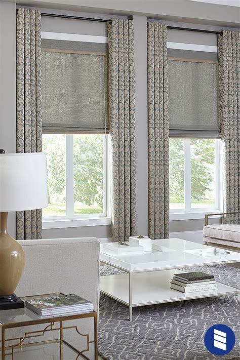 deluxe woven wood shade window treatments living room