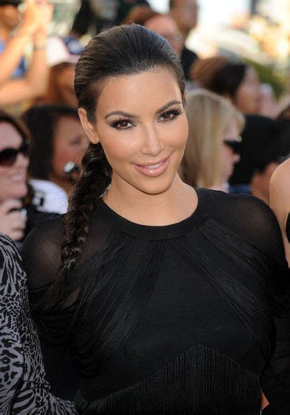 Kim Kardashian Long Braided Hairstyle   Kim kardashian ...