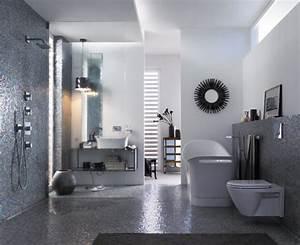 la douche italienne du luxe dans votre salle de bain With salle de bain design avec feuilles métalliques décoration